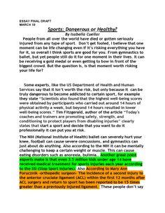 Isabella Cuellar Sports Essay Page 1