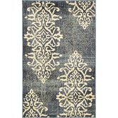 Found it at Wayfair - Damask Blue Area Rug