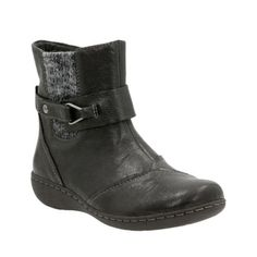 Fianna Adley Black Leather womens-ankle-boots