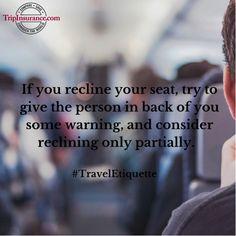 Just plane manners #TravelEtiquette #TravelTips