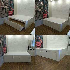 Кровать подиум ламинированная.