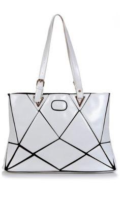 Kalissa Purse White Geometric Bag