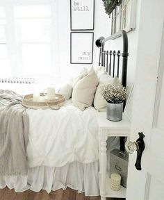 Guest Room! | Shabby Chic Bedroom Ideas for Women | #shabby #chic #shabbychic #bedroom