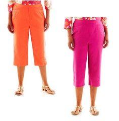 5a7a8542860 Alfred Dunner Capris Laguna Beach Embroidered women s size 8