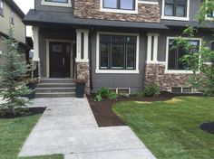 New #sod and flowerbeds for a wonderful family in #yyc!