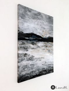 LauraH: In Dark Waters Paper collage and acrylic on canvas. Nordic Art, Scandinavian Interior, Modern Interior, My Arts, Collage, Dark, Canvas, Paper, Artist