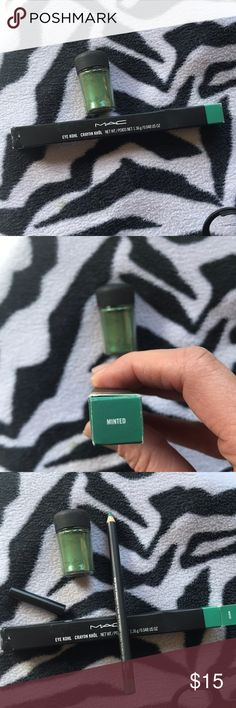 💰SALE💰MAC Cosmetics Eye Khol in Minted💚 Authentic! Spearmint color. Amazing as a shadow base to make green pop through or use as a liner to jazz up brown or green eyes MAC Cosmetics Makeup Eyeliner
