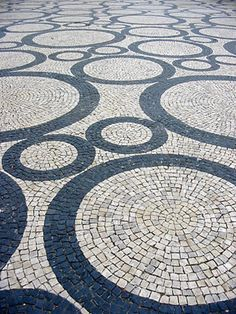 Paving pattern by the inimitable Roberto Burle Marx could be used for some print fabrics!                                                                                                                                                     More