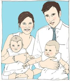 Custom family portrait. $120.00, via Etsy.