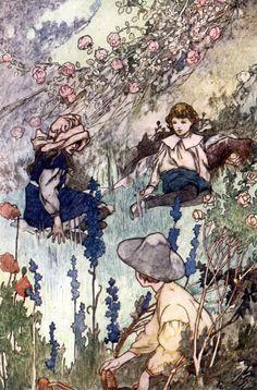 'The Secret Garden' by Frances Hodgson Burnett, illustrated by Charles Robinson. Published 1912 by William Heinemann, London.