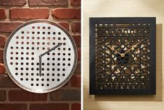Find out how we turned a pizza pan and a salvaged vent cover into clever wall clocks. Follow our step-by-step instructions, and make a clock of your own in no time!