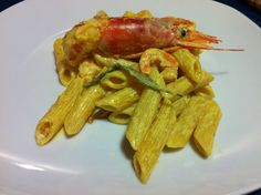 Penne scampi e curry