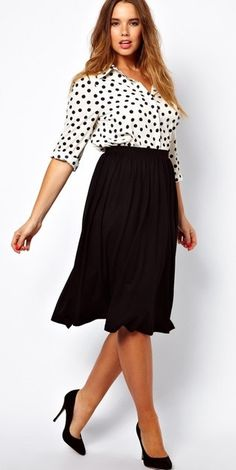 Midi Plus Size Skirt