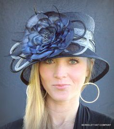 Women's Kentucky Derby Flower Cloche Hat. See sometimes you wear the hat and sometimes the hat wears you