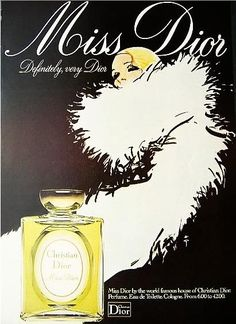 Christian Dior Diorama perfume advertisement, 1955, with art by René Gruau. Description from pinterest.com. I searched for this on bing.com/images