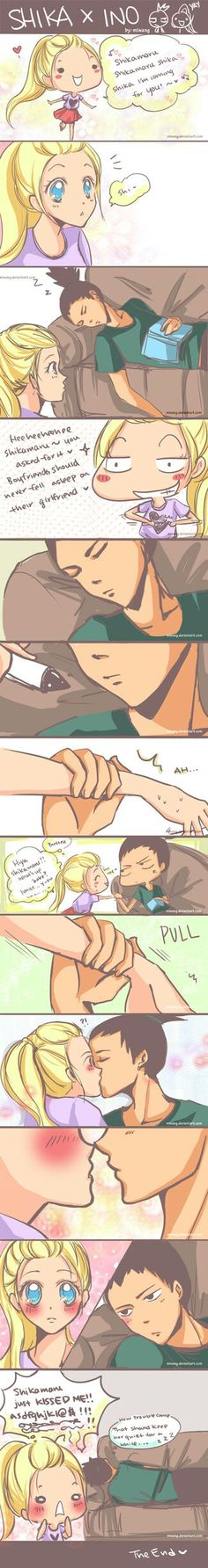 Shika x ino bahahaha - Not really a fan of this pairing but this was really cute. :)