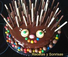 Pastel infantil en forma de erizo. #food #dessert # cake #chocolate #tutorial #recipe #child cake