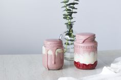 Strawberry Smoothie with Cashew Cream