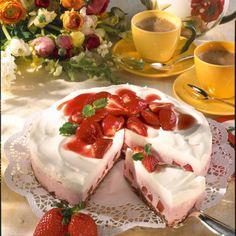 Erdbeer-Joghurt-Torte mit Knusper-Boden