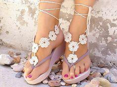 Bijuterias para os pés no estilo hippie/boêmio e outros.