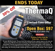 Two Thermoworks Deals Going on Today - ThermaQ and Thermapen Mk4 - on Gear Trails