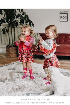 These cuties seem to be enjoying their new space boasting this washable wool rug, part of the Lorena Canals Woolables Collection - available Washable Area Rugs, Lorena Canals, Blue Cushions, Wool Rug, Hand Weaving, Baby Kids, Kids Room, Flower Girl Dresses, Space