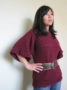 Free pattern---This is cute, but I would really love the arms to be long, and then fitted from where they currently stop to the wrist.