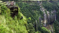 The famous Seven Sisters Waterfalls; Meghalaya