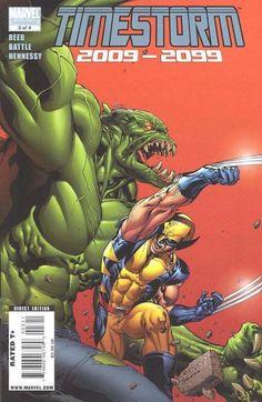 Timestorm 2099 # 3 by Tom Raney & Scott Hanna Marvel 2099, Marvel 3, Marvel Comics, Marvel Comic Character, Marvel Comic Books, Comic Books Art, Comic Poster, Incredible Hulk, Comic Covers