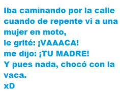 Every time I read this, I break out into peals of maniacal laughter.....!!!!! #Chiste #MuchaRiza
