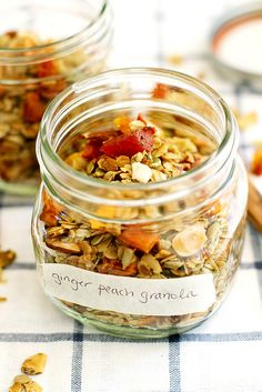 We can't wait to dive into this Ginger Peach Granola  from @girlversusdough. Whole grain oats minimally sweetened with maple syrup- that's about as good as breakfast can get.