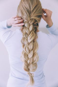 Get this chunky double braid via Barefoot Blonde on LaurenConrad.com