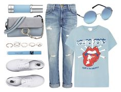 """""""Blue Bomb"""" by smartbuyglasses ❤ liked on Polyvore featuring Chloé, Swarovski, La Prairie, Current/Elliott, MadeWorn, Vans, GUESS, COOLA Suncare and Blue"""