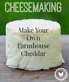 How to Make Cheese. Make your own Farmhouse Cheddar with From Scratch Magazine. #cheesemaking