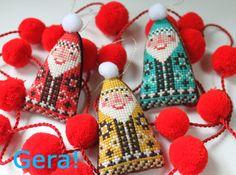 最近見た展示  There is a free pattern for this Santa at her shop.