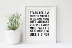 The Office Poster Scranton Places Dunder Mifflin Michael Jane Austen, Stars Hollow, Rory Gilmore, Gilmore Girls Poster, Mr. Darcy, Leslie And Ben, Babette Ate Oatmeal, Harry Potter Poster, Mansfield Park