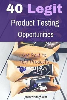 Product Testing Items for Free: 40 Legit Companies That Pay You to Test Products Paid Product Testin Free Stuff By Mail, Get Free Stuff, Work From Home Opportunities, Work From Home Jobs, Earn Money From Home, Way To Make Money, Money Fast, Big Money, Free Money