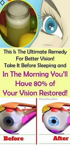 This is the Ultimate Remedy for Better Vision! Take it Before Sleeping and in the morning you'll have 80% of your Vision Restored! You'll throw away your glasses really quickly! Try this recipe before the Pharmacists erase it from the Internet!