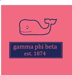 Sorority Gamma Phi Beta Whale Watermelon Comfort