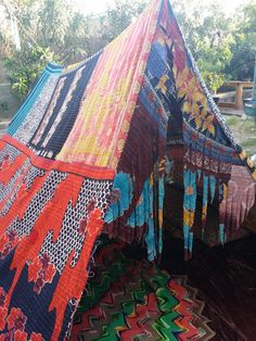 Boho Gypsy tent India glamping teepee hippiewild vtg by HippieWild