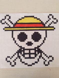 La tête de mort dans on peace en pixel
