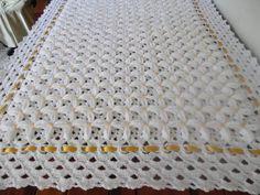 Crochet Bedspread Pattern, Manta Crochet, Crochet Bebe, Crochet Baby Clothes, Baby Afghans, Baby Knitting Patterns, Crochet Stitches, Crochet Projects, Baby Boy