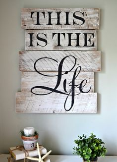 """""""This is the Life"""" wood sign {customizable} - Aimee Weaver Designs"""