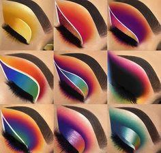 Crazy Eye Makeup, Makeup Looks For Green Eyes, Edgy Makeup, Eye Makeup Steps, Makeup Eye Looks, Creative Makeup Looks, Colorful Eye Makeup, Eye Makeup Art, Pretty Makeup