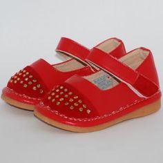 Red Studded Mary Jane