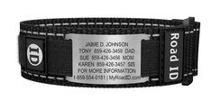 Sport Stainless Nylon ID Bracelet....Emergency contact information if injured while running