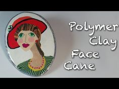 How to make a face cane cabochon with polymer clay - YouTubeIt had very interesting construction.  She caned an eye and a mouth first then put slices behind glass to construct the scene.
