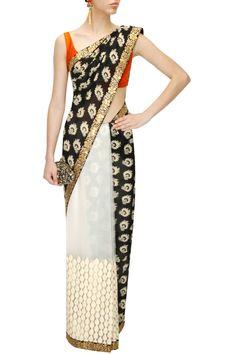 Black and White #Sabyasachisari – Panache Haute Couture #panachehautecouture