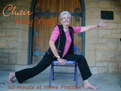 Our blog will be hosting Chair Holy Yoga - 10 Minute At Home Practice on a regular basis. #chairholyyoga #holyyoga #chairyoga @holyyoga