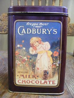 Vintage tins   (this is Cadbury) c: